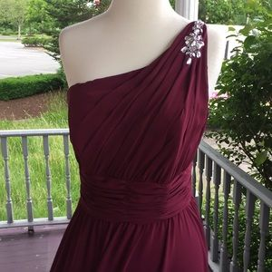 Mori Lee burgundy colored dress size 12